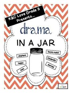 Drama in a Jar {Brain Breaks Too!} Drama in a Jar great idea to link words used in industry and to practice the spelling and pronunciation Drama Activities, Drama Games, Art Therapy Activities, Physical Activities, Drama Teacher, Drama Class, Drama Drama, Drama Theatre, Theatre Games