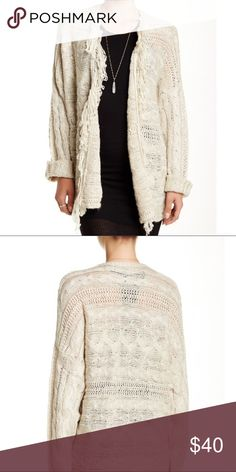 Cozy Fringe Sweater OnTwelfth cozy fringe sweater. Open front, awesome for layering! The fringe is so cute peeking out of jackets. Oversize, comfy fit. The perfect pick for Fall 🍂🍁 Nordstrom Sweaters Cardigans