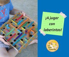 Una nueva propuesta de juego y aprendizaje en el hogar. Triangle, Children's Magazines, Plastic Cups, Cardboard Tubes, Ice Cream Sticks, Labyrinths, Proposal