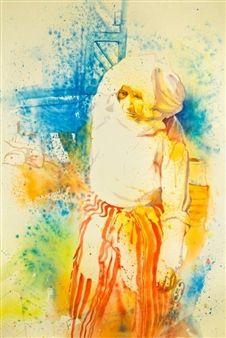 "Concha Osuna, ""Acuarelas 4"" | Watercolor on Paper | $4,500 | Source: http://www.art-mine.com/artistpage/concha_osuna.aspx | Agora Gallery | Contemporary Fine Art | NYC, NY."