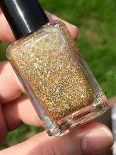 Sweet Heart Polish prototype (gold glitter)
