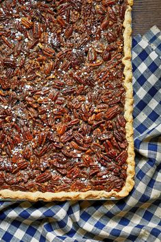 Put a new spin on a classic Thanksgiving dessert with this pecan slab pie recipe. Learn how to make a pecan slab pie that will have your family asking for seconds. Best Thanksgiving Recipes, Thanksgiving Pies, Holiday Recipes, Holiday Foods, Holiday Dinner, Fall Dinner, Thanksgiving 2020, Dinner Table, Fall Recipes