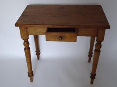 Antique French Pine Lamp Table