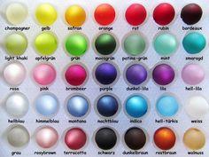 50 Polaris Perlen 12mm matt, Wunsch-Farb-Mix  von Schmuckes von der Perlenbraut auf DaWanda.com