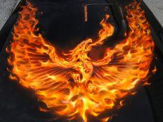 Original Hood painting 1981 Turbo Trans Am Air Brush Painting, Car Painting, Fire Chicken, Phoenix Images, Flame Art, Pontiac Firebird Trans Am, Car Colors, Futuristic Cars, Amazing Cars