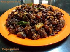Kerala Pork Fry is a polular recipe in south Kerala. I came across this recipe from one of my friends grandma, she is from Kottayam Pala , Kerala. For special Occasions like Christmas, Easter pork is an inevitable dish in kerala specially kottayam. Erachi/meat Ularthiyathu/stir fry dishes are very common and reqular in christain families. Every home has there on way of making erachi/ meat ularthiyathu/stir fry and this is