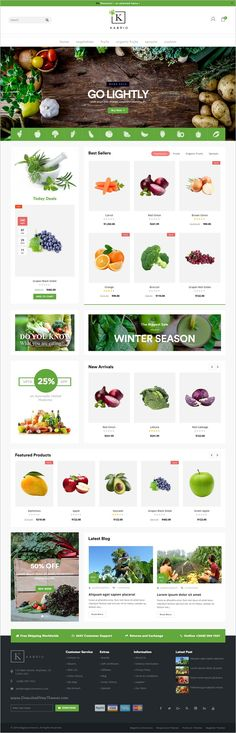 Kabrio is a responsive 2in1 #OpenCart theme for organic #vegetable food store eCommerce website download now➩ https://themeforest.net/item/kabrio-responsive-opencart-theme/18911097?ref=Datasata