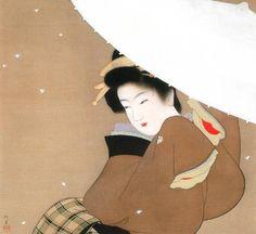 by Shoen Uemura Oriental Print, Beauty In Art, Asian Love, Japanese Painting, Japanese Prints, Japan Art, Chinese Art, Traditional Art, Vintage Posters