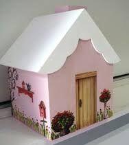 Resultado de imagem para casinhas de madeira para panetone como pintar