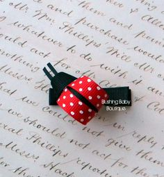 Little Lady Bug Hair Clip-- Perfect for Spring-- Birthdays and Baby Showers. $2.50 USD, via Etsy.