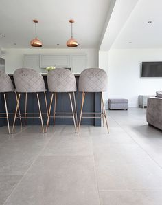 porcelain flooring Dove Grey stone effect porcelain tiles, stunning large format grey porcelain floor tiles. Order your FREE sample of Dove Grey stone effect porcelain Large Floor Tiles, Grey Floor Tiles, Grey Flooring, Limestone Flooring, Concrete Tiles Floor, Large White Tiles, Wood Effect Floor Tiles, Modern Floor Tiles, Open Plan Kitchen Living Room