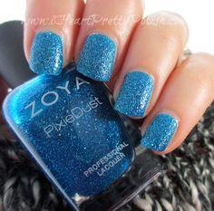 Zoya Liberty #Blue #shimmer #nailart #nails #nailpolish #naillacquer - bellashoot.com #holidaynails #partynails