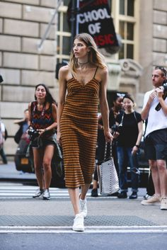 Of course, the choker trend makes an appearance at NYFW. #refinery29 http://www.refinery29.uk/2016/09/122826/nyfw-spring-2017-best-street-style-outfits#slide-59
