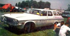 Akron's Arlen Vanke and Bill Abraham teamed up to win Indy in 1964 and 1965 with this Plymouth station wagon.