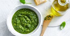 Basil pesto can be used as an accompaniment to many roast dishes but it also tastes delicious stirred through a big bowl of pasta.