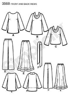 Simplicity-Cartamodello-per-maglie-e-pantaloni-Donna-taglie-40-58