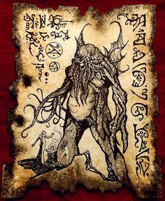 CYCLOPS CTHULHU SPAWN Necronomicon Fragment by zarono on Etsy