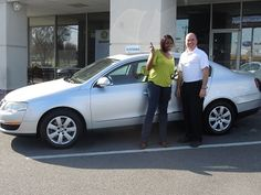 Folger Subaru Internet Sales Consultant Jim Gamble with Mrs. Sullivan and her 2006 Volkswagen Passat sedan!