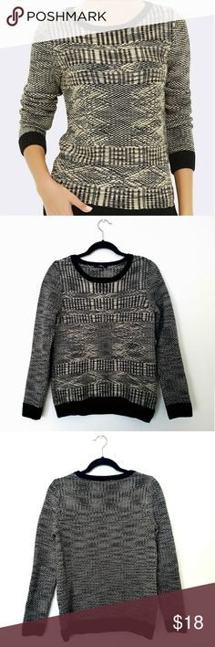 """Mavi Jacquard Crew Neck Sweater Cozy and sophisticated crew neck sweater. Looks great tucked into a high-waisted skirt, or worn as is over skinny jeans. 91% acrylic, 9% wool. 26"""" center back length, 19"""" chest. Mavi Sweaters Crew & Scoop Necks"""