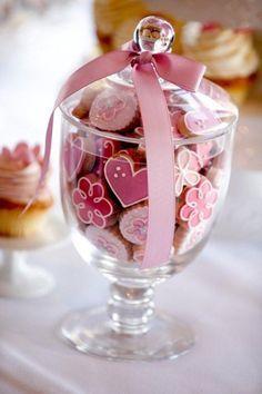 ♔ Fancy cookies in a jar Cookies Cupcake, Galletas Cookies, Fancy Cookies, Iced Cookies, Cute Cookies, Royal Icing Cookies, Cookies Et Biscuits, Sugar Cookies, Cupcakes