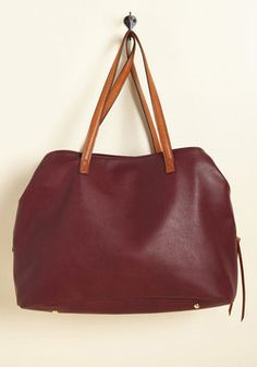 Minutes Turn to Sections Bag in Burgundy