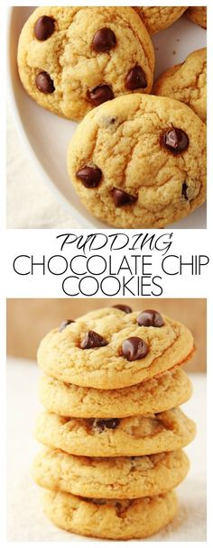 Pudding Chocolate Chip Cookies - thick and chewy and absolutely fantastic!
