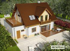 # projekt domu Mati III G1 Mocca