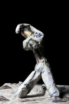 Torsione....scultura in carta