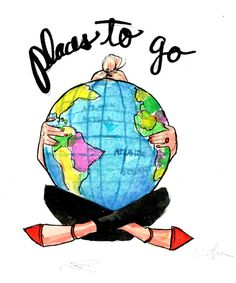 Travel Journal: Places to Go by AThingCreated on Etsy