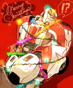 MsLightningPrime Merry Christmas Pictures, Merry Christmas Quotes, Christmas Art, Transformers Optimus, Optimus Prime, Ratchet, Just In Case, Robot, Concept Art