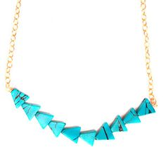Zoe Necklace Turquoise, $36, now featured on Fab.