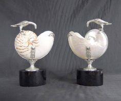 antique silver & nautilus shells Vases, Dining Etiquette, Shell Decorations, Nautilus Shell, Corals, Seashells, Sea Creatures, Fine Dining, Sea Glass