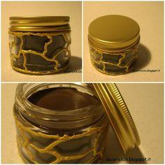 decoriciclo: Riuso di un barattolino di vetro + balsamo per le labbra al cioccolato fai-da-te