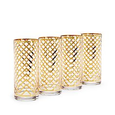 Gorgeous gold chevron glassware
