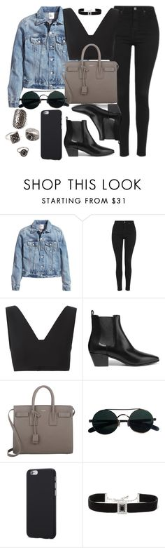 """Style #11329"" by vany-alvarado ❤ liked on Polyvore featuring H&M, Topshop, T By Alexander Wang, Yves Saint Laurent, Kenneth Jay Lane and Forever 21"