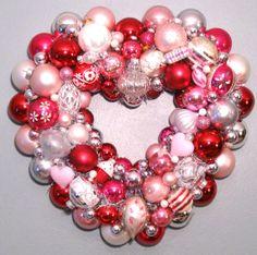 Valentine Heart Wreath, SOLD