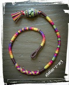 Tresse indienne ou atébas de 30cm multicolore : Accessoires coiffure par atebas-z-art