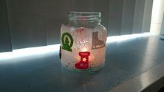 Kerstlichtje met decoratiesneeuw en viltfiguren van Action