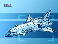 SXT-244 by TheXHS @ deviantART | The SXT-244 is a space shuttle. This one have a scramjet engine for fuel efficiently climb into atmosphere and rocket engine for space flight. As first stage used solid rocket booster as the Space Shuttle.