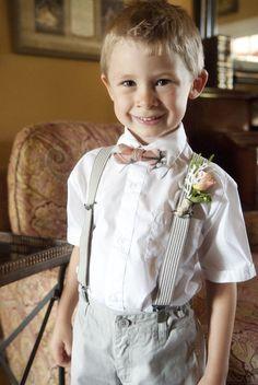 ring bearer in a bow tie