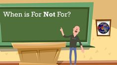 When is for not for? - Learn English