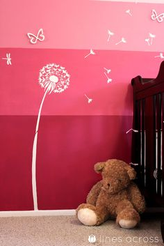 How to Paint an Ombre Accent wall.  Not the colors I want for RFC Preschool or kids/teen room, but I love the idea of ombre.