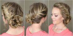 10 Easy Ways to Put a Creative Twist On the Braided Bun (StyleCaster), 10 Simple Methods to Put a Artistic Twist On the Braided Bun (StyleCaster) 10 Simple Methods to Put a Artistic Twist On the Braided Bun Pretty Hairstyles, Braided Hairstyles, Wedding Hairstyles, Wedding Updo, Latest Hairstyles, Love Hair, Gorgeous Hair, Corte Y Color, Bridesmaid Hair