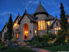 European House Plans with Turrets | European House Styles