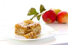 Kolac od jabuka i griza - samo umesto margarina staviti puter :) Fruit Recipes, Brownie Recipes, Cooking Recipes, Apple Cake, Kefir, How To Make Cake, Banana Bread, French Toast, Food And Drink