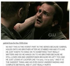 #Supernatural  Devil & Gabriel, poor Gabriel..he was just trying to do the right thing for once.