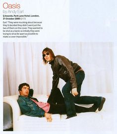 Noel Gallagher and Liam Gallagher Oasis Music, Liam And Noel, Oasis Band, Liam Gallagher, It Takes Two, Brotherly Love, Britpop, Crazy Kids, Shopping