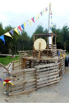 A pallet pirate ship - with the weather getting muddier, this type of outdoor play is always in season.