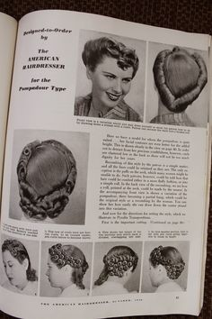 1940's pompadour variation. I love the back! *click the pic to be able to enlarge the directions*