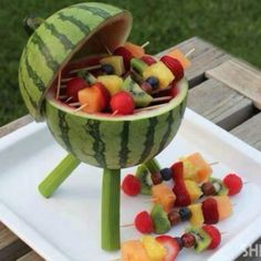 Summer Cookout centerpiece